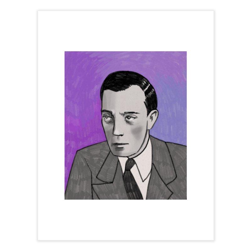 Buster Keaton Home Fine Art Print by Kate Gabrielle's Threadless Shop
