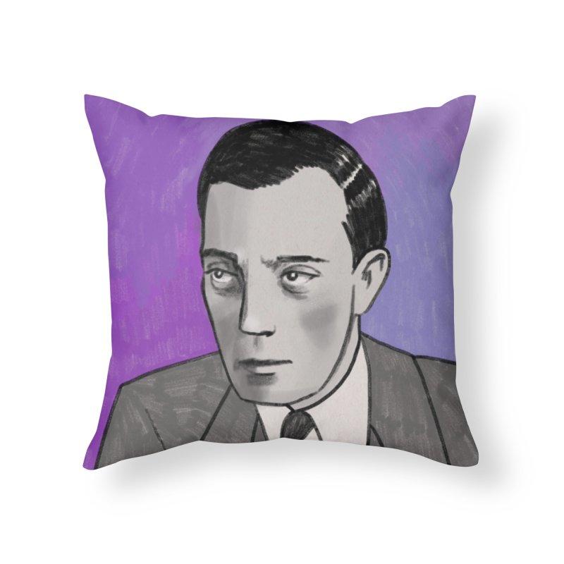 Buster Keaton Home Throw Pillow by Kate Gabrielle's Threadless Shop