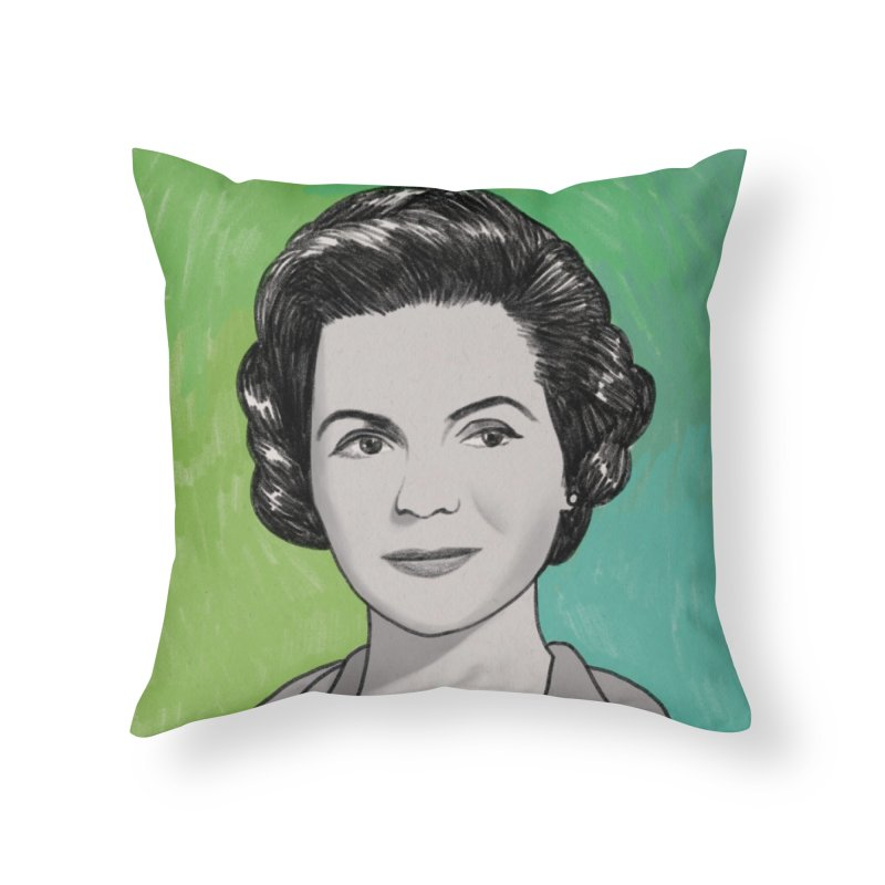 Dorothy McGuire Home Throw Pillow by Kate Gabrielle's Threadless Shop