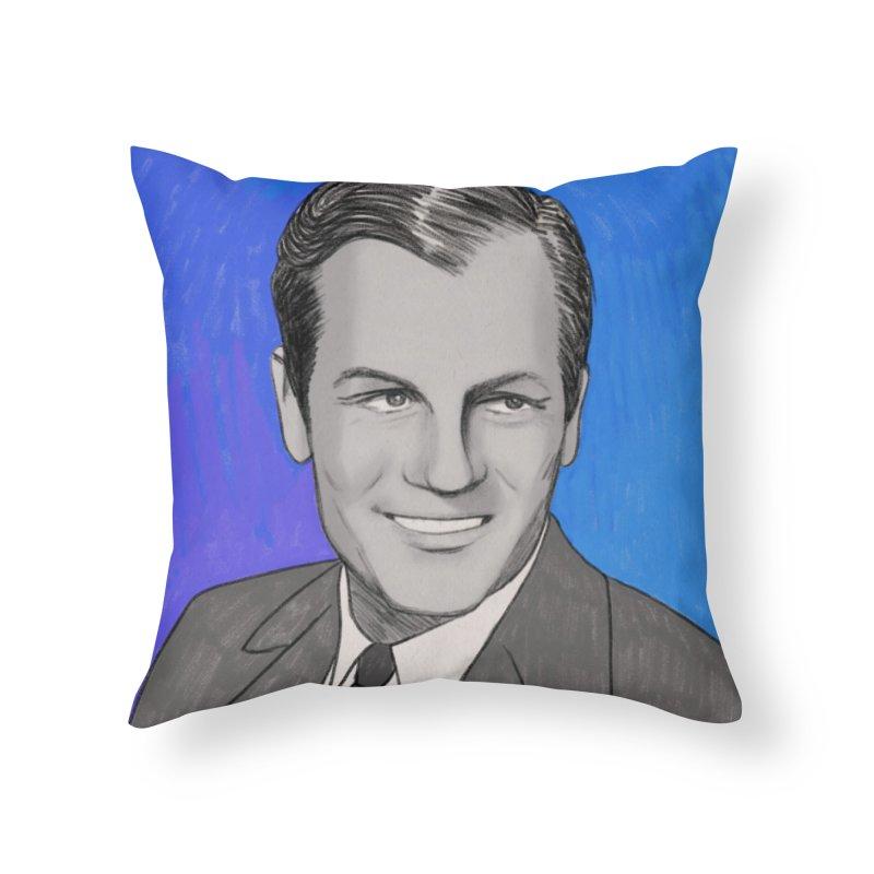 Joel McCrea Home Throw Pillow by Kate Gabrielle's Threadless Shop