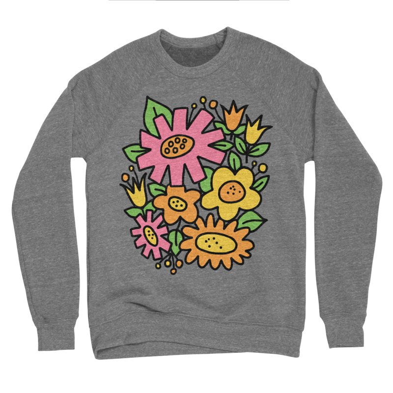 Retro Floral in pink and yellow Women's Sponge Fleece Sweatshirt by Kate Gabrielle's Threadless Shop
