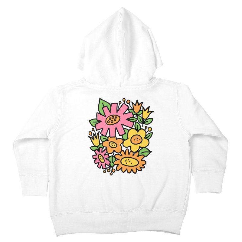 Retro Floral in pink and yellow Kids Toddler Zip-Up Hoody by Kate Gabrielle's Threadless Shop