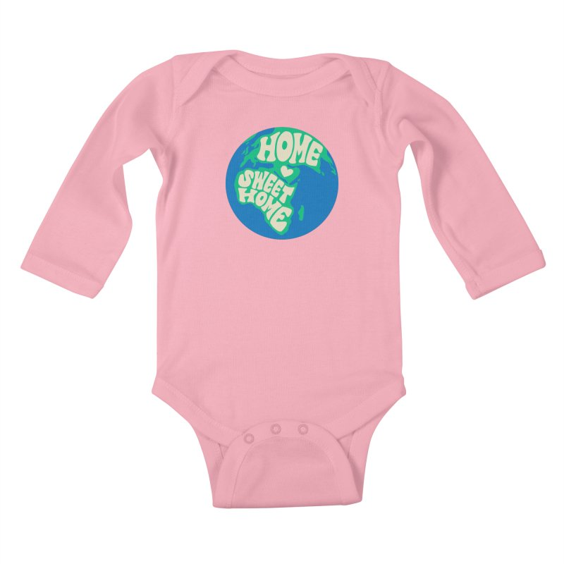 Home Sweet Home Kids Baby Longsleeve Bodysuit by Kate Gabrielle's Threadless Shop