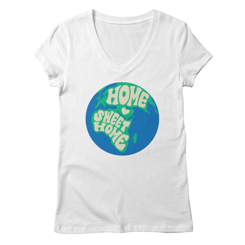 Home Sweet Home Women's Regular V-Neck by Kate Gabrielle's Threadless Shop