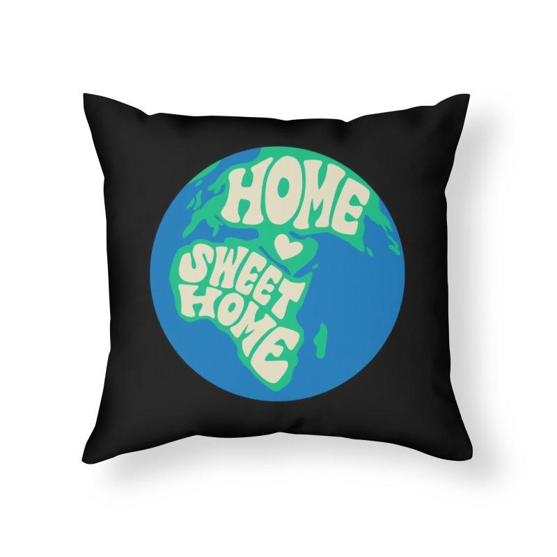 Home Sweet Home Home Throw Pillow by Kate Gabrielle's Threadless Shop