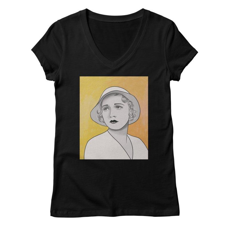 Leila Hyams Women's Regular V-Neck by Kate Gabrielle's Threadless Shop
