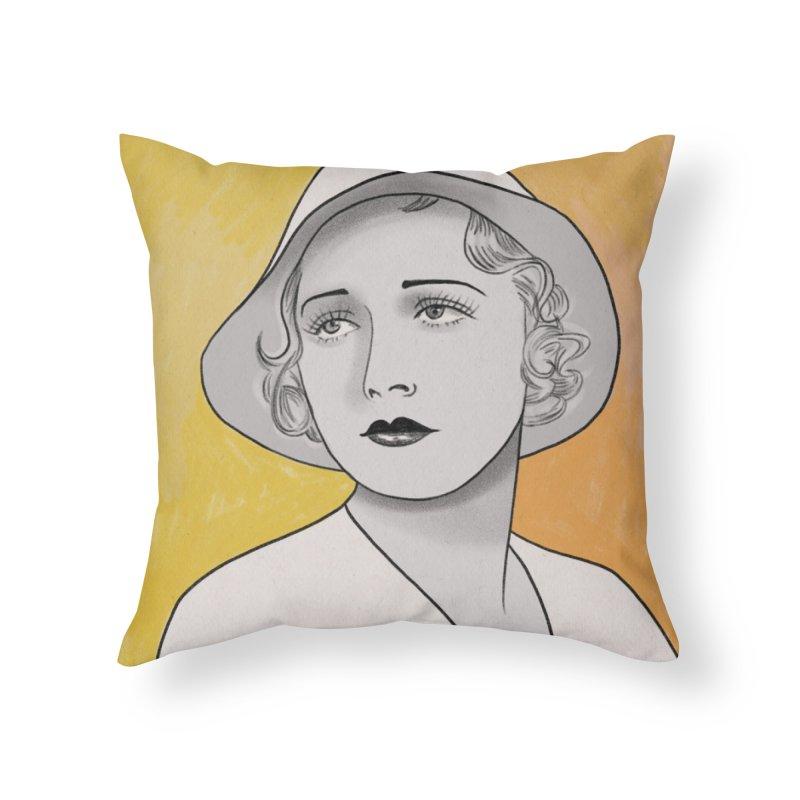 Leila Hyams Home Throw Pillow by Kate Gabrielle's Threadless Shop