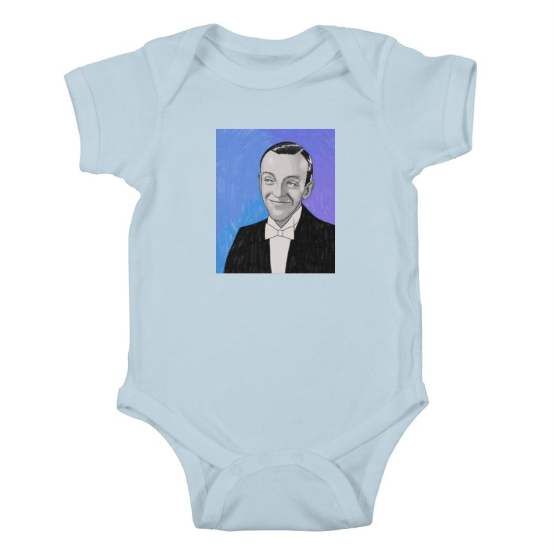 Fred Astaire Kids Baby Bodysuit by Kate Gabrielle's Threadless Shop