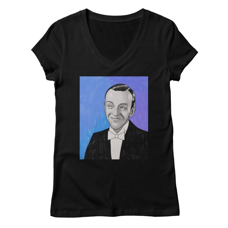 Fred Astaire Women's Regular V-Neck by Kate Gabrielle's Threadless Shop