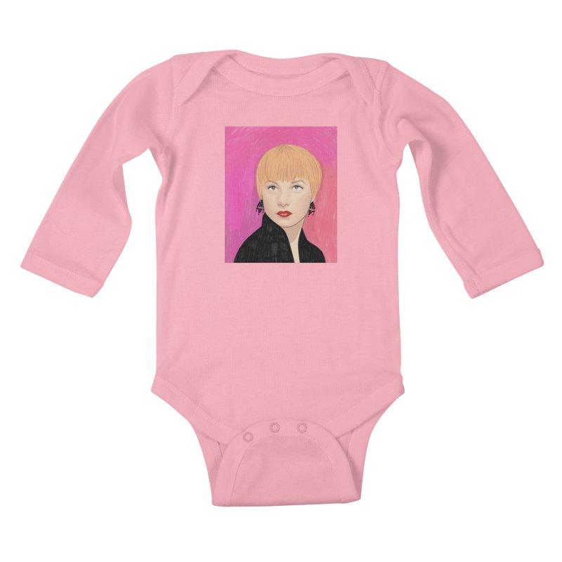 Shirley MacLaine Kids Baby Longsleeve Bodysuit by Kate Gabrielle's Threadless Shop