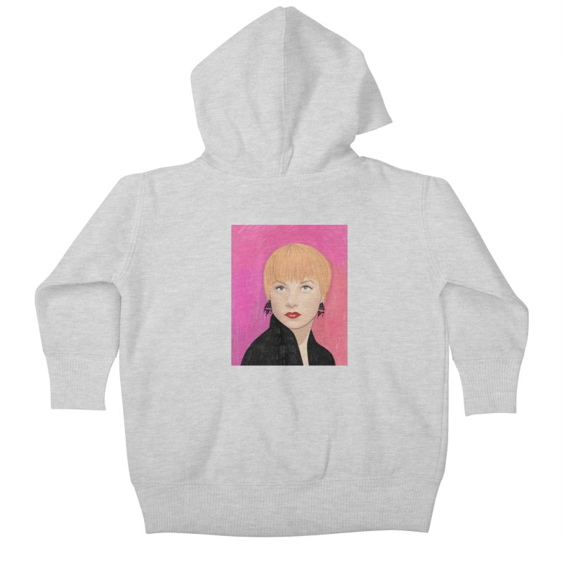 Shirley MacLaine Kids Baby Zip-Up Hoody by Kate Gabrielle's Threadless Shop