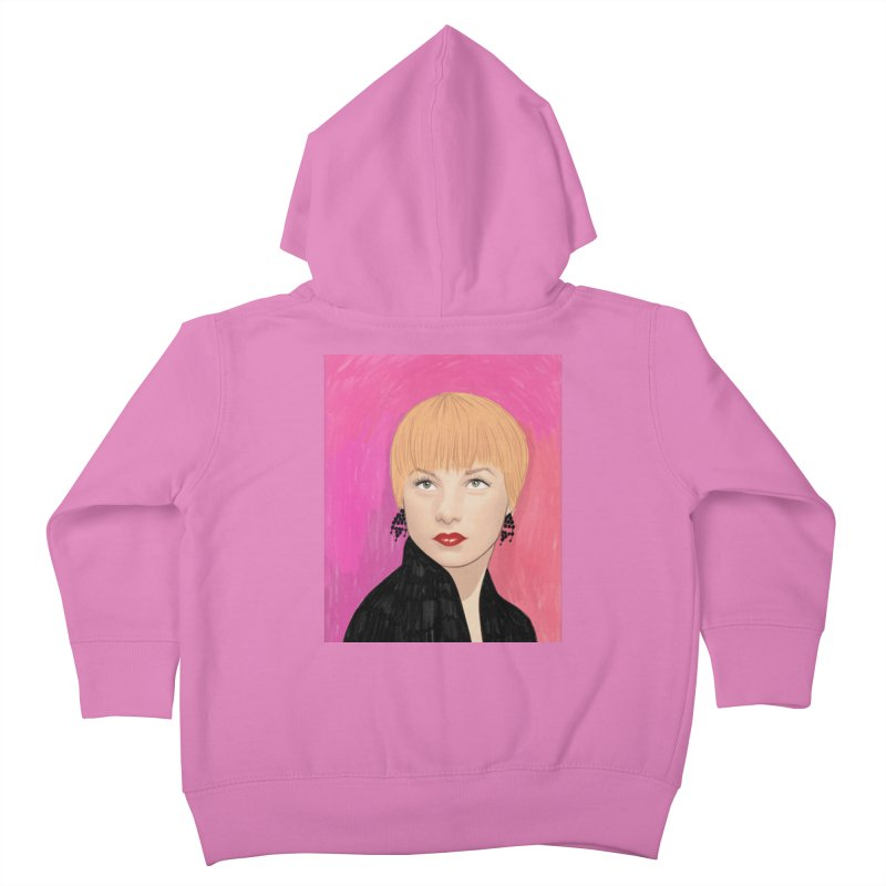 Shirley MacLaine Kids Toddler Zip-Up Hoody by Kate Gabrielle's Threadless Shop