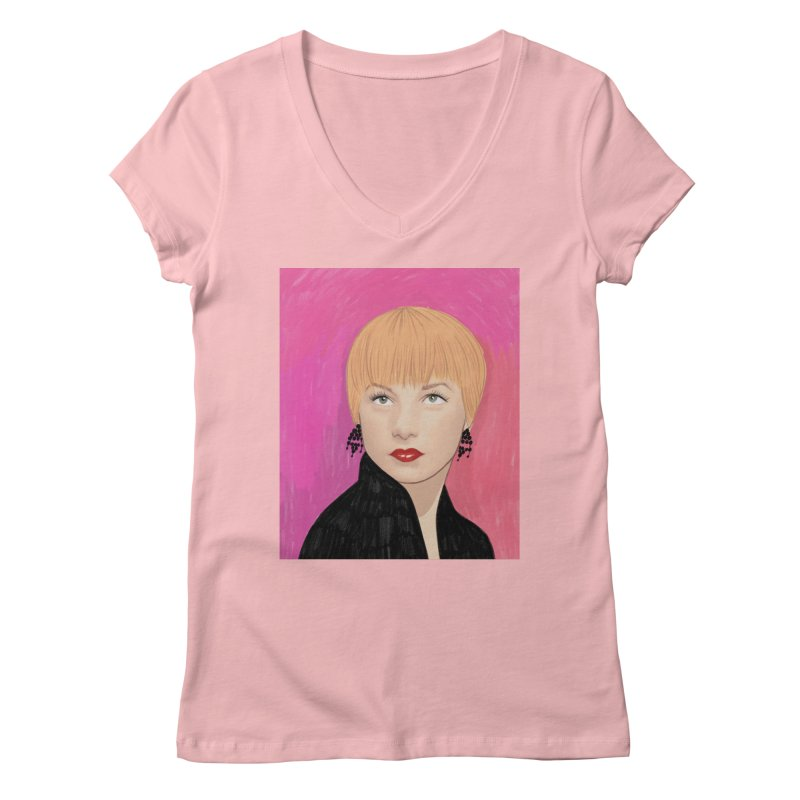 Shirley MacLaine Women's Regular V-Neck by Kate Gabrielle's Threadless Shop