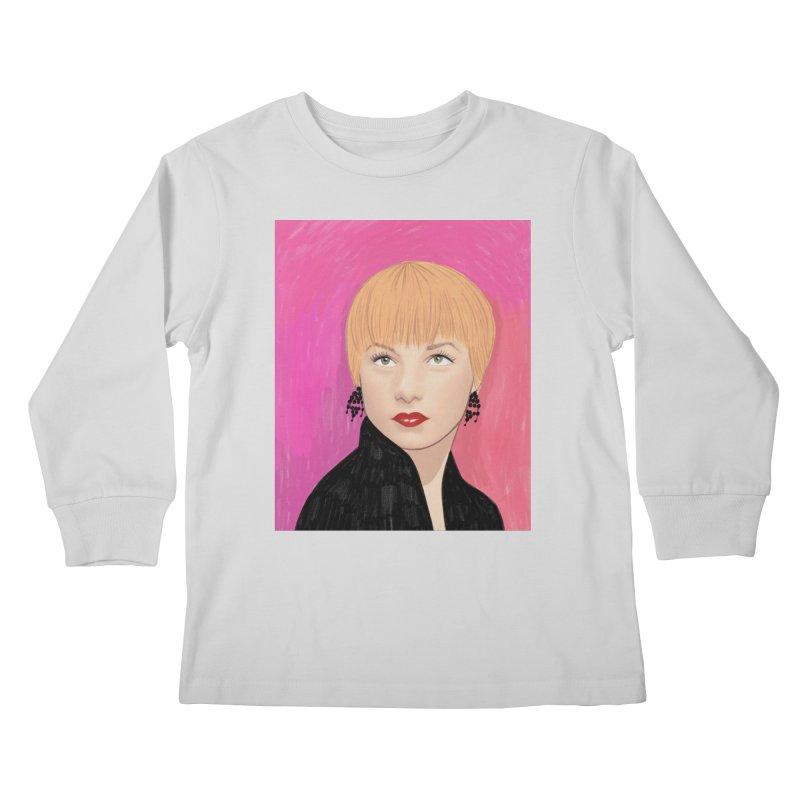 Shirley MacLaine Kids Longsleeve T-Shirt by Kate Gabrielle's Threadless Shop
