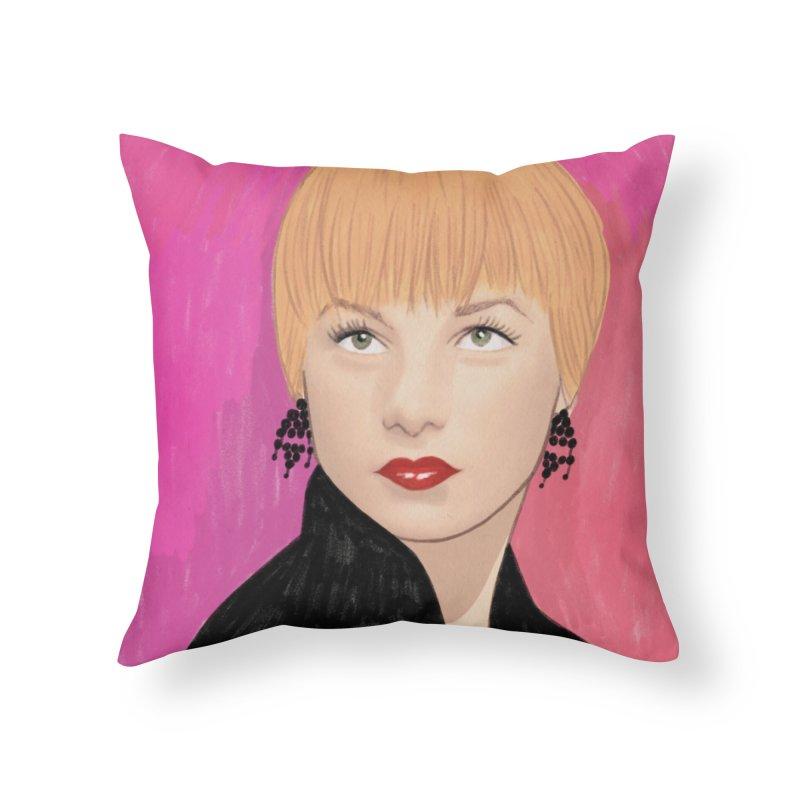 Shirley MacLaine Home Throw Pillow by Kate Gabrielle's Threadless Shop