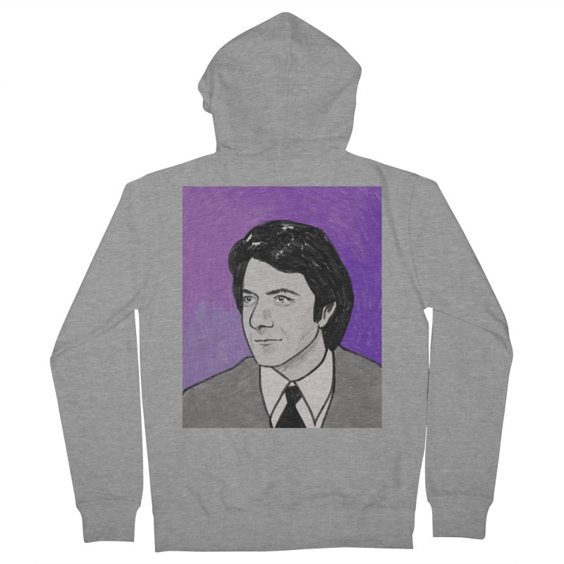 Dustin Hoffman Men's French Terry Zip-Up Hoody by Kate Gabrielle's Threadless Shop