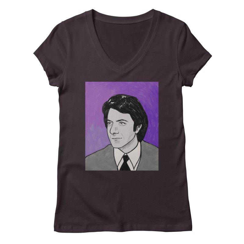 Dustin Hoffman Women's Regular V-Neck by Kate Gabrielle's Threadless Shop