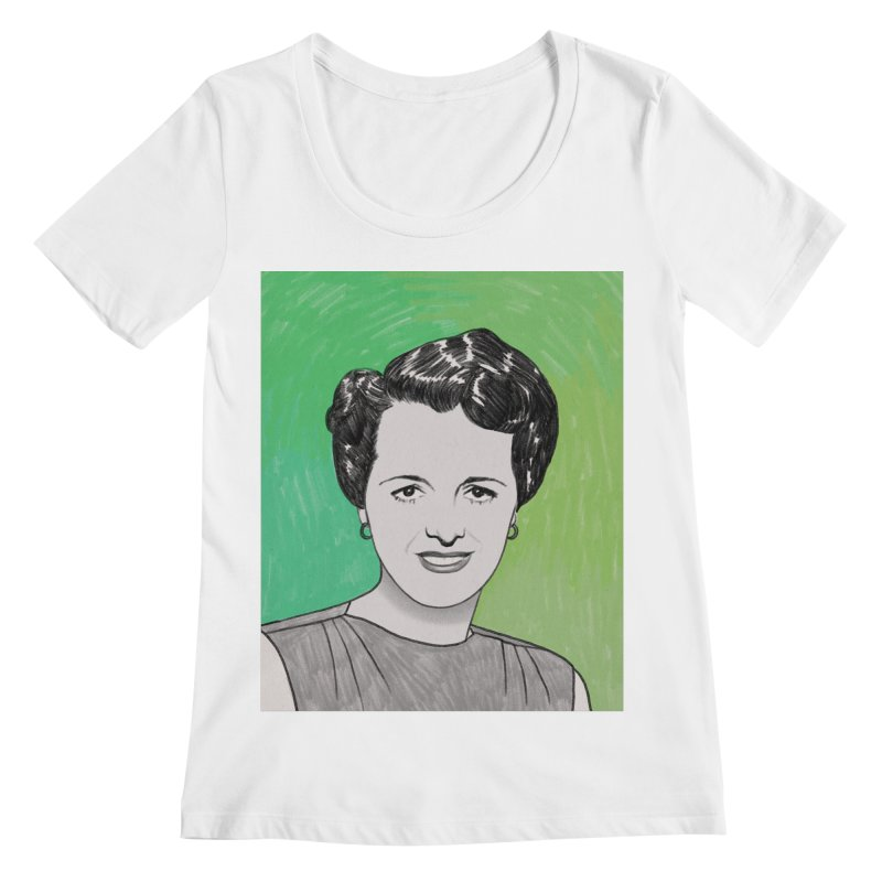 Mary Astor Women's Regular Scoop Neck by Kate Gabrielle's Threadless Shop