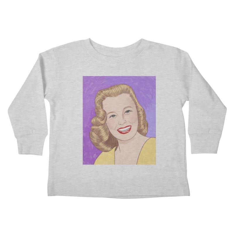 June Allyson Kids Toddler Longsleeve T-Shirt by Kate Gabrielle's Threadless Shop