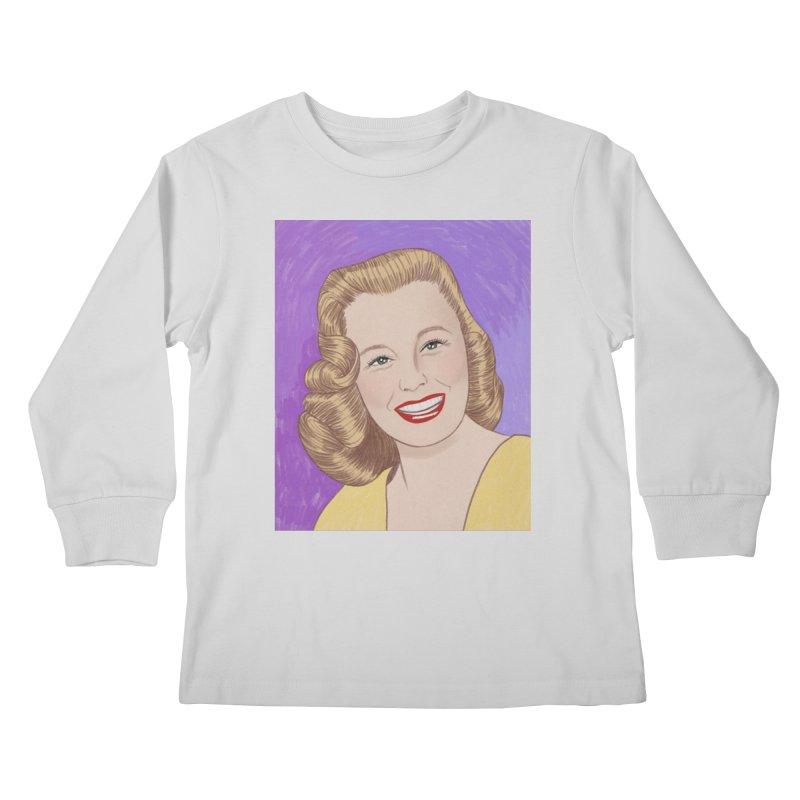 June Allyson Kids Longsleeve T-Shirt by Kate Gabrielle's Threadless Shop