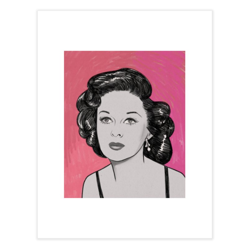 Susan Hayward Home Fine Art Print by Kate Gabrielle's Threadless Shop