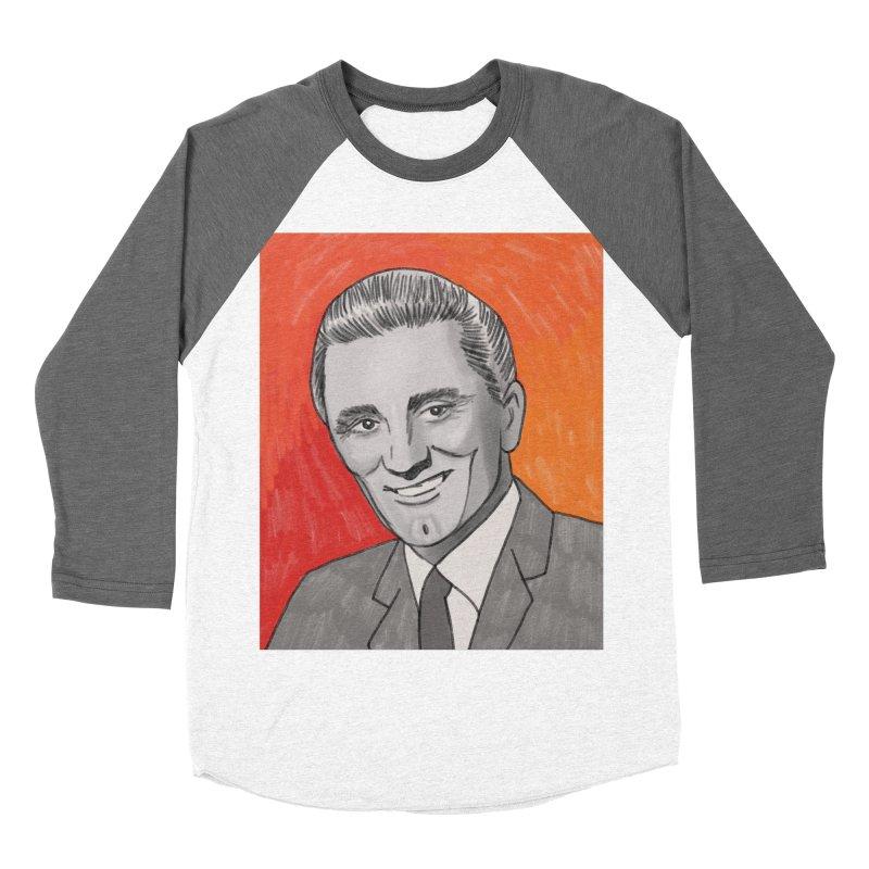 Kirk Douglas Women's Baseball Triblend Longsleeve T-Shirt by Kate Gabrielle's Threadless Shop