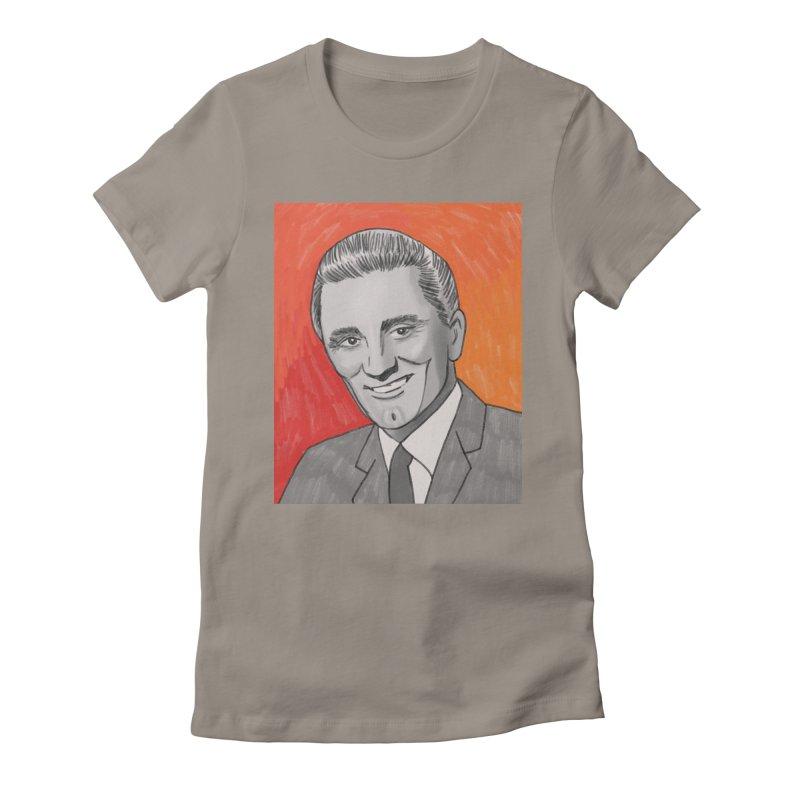 Kirk Douglas Women's Fitted T-Shirt by Kate Gabrielle's Threadless Shop