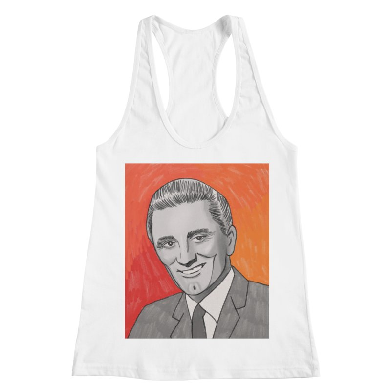 Kirk Douglas Women's Racerback Tank by Kate Gabrielle's Threadless Shop