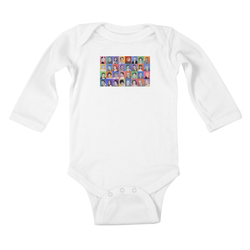 Summer Under the Stars Kids Baby Longsleeve Bodysuit by Kate Gabrielle's Threadless Shop