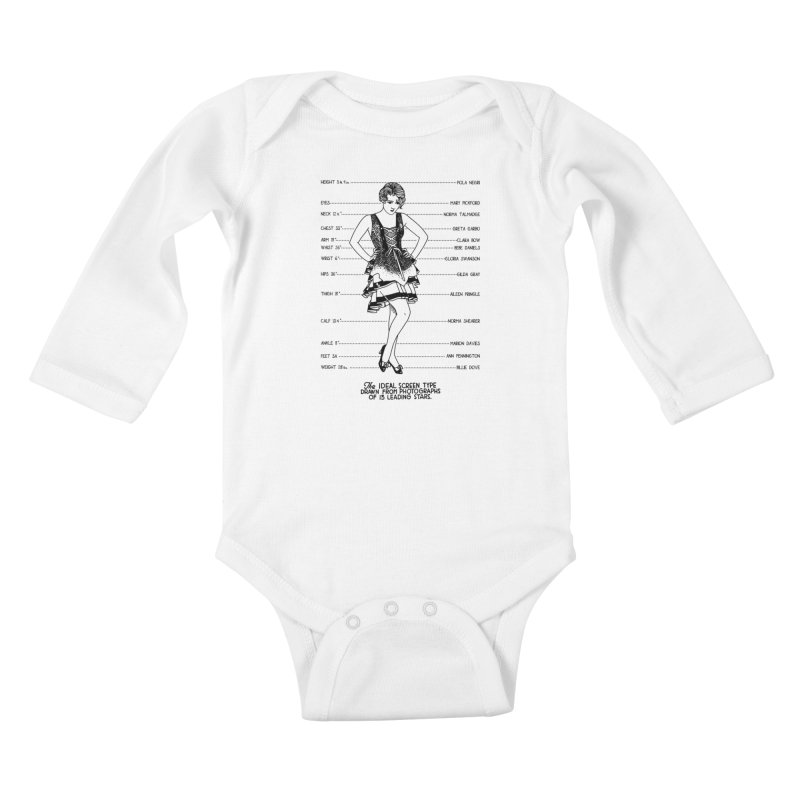 The Ideal Screen Type Kids Baby Longsleeve Bodysuit by Kate Gabrielle's Threadless Shop