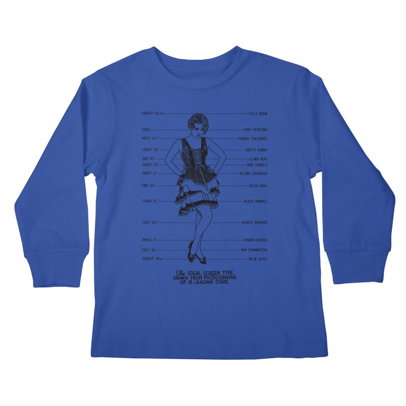 The Ideal Screen Type Kids Longsleeve T-Shirt by Kate Gabrielle's Threadless Shop