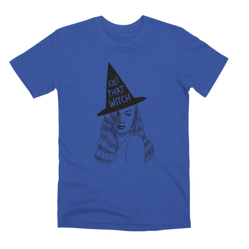 100% that witch Men's Premium T-Shirt by Kate Gabrielle's Threadless Shop