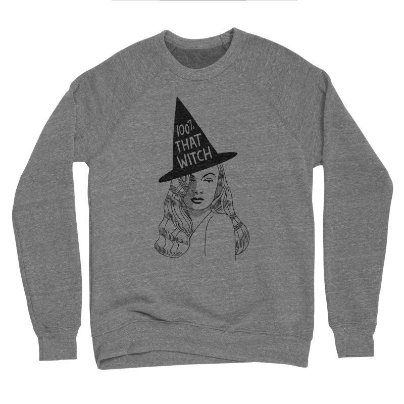 100% that witch Women's Sponge Fleece Sweatshirt by Kate Gabrielle's Threadless Shop