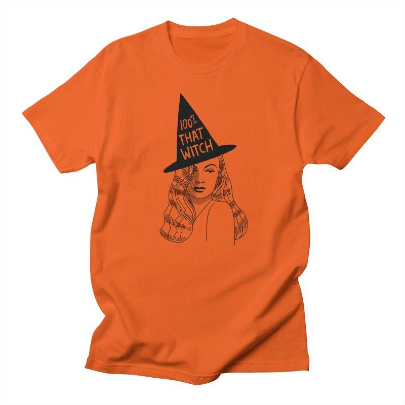 100% that witch Men's Regular T-Shirt by Kate Gabrielle's Threadless Shop