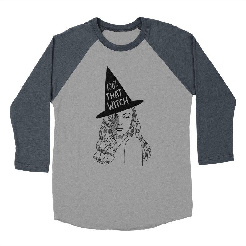 100% that witch Women's Baseball Triblend Longsleeve T-Shirt by Kate Gabrielle's Threadless Shop