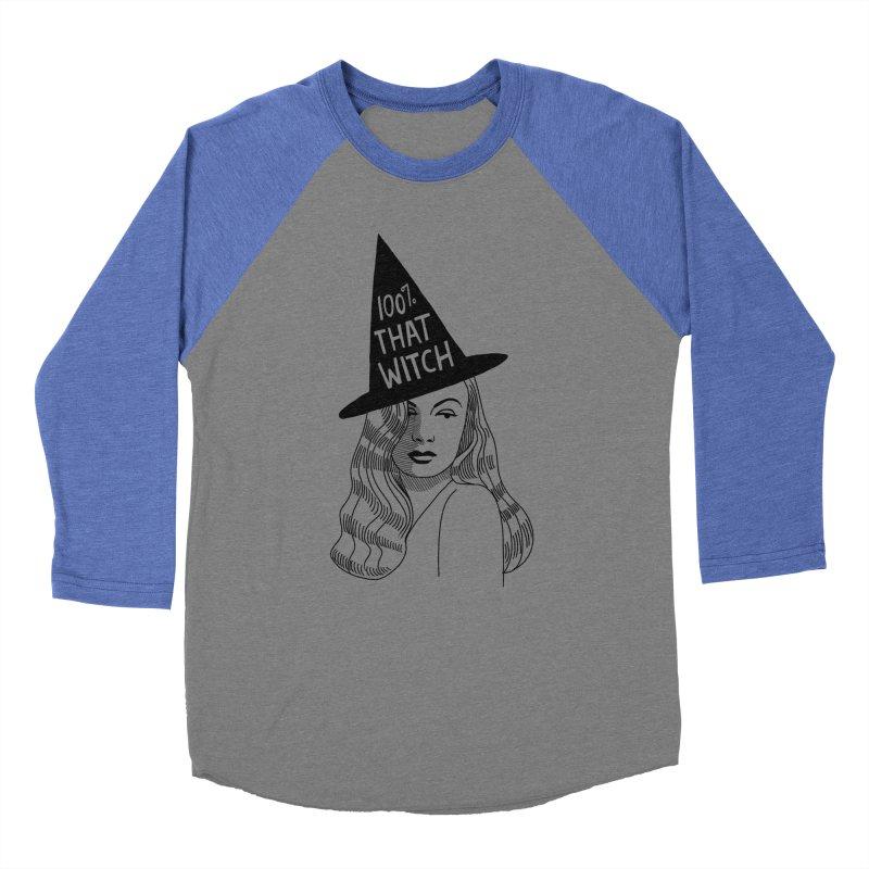 100% that witch Men's Baseball Triblend Longsleeve T-Shirt by Kate Gabrielle's Threadless Shop