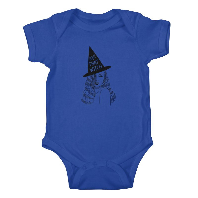 100% that witch Kids Baby Bodysuit by Kate Gabrielle's Threadless Shop