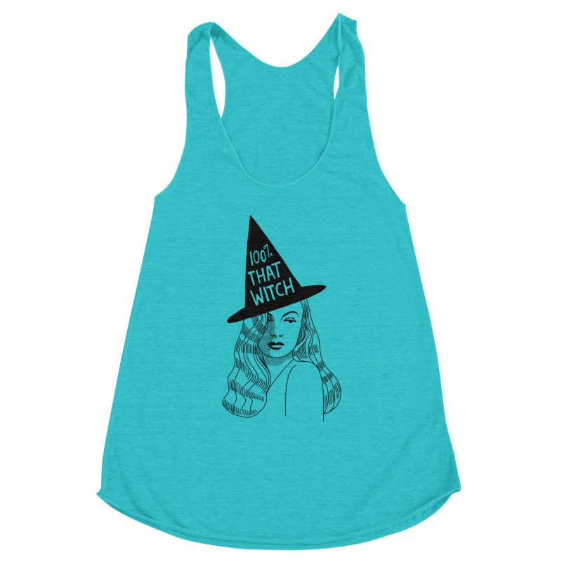 100% that witch Women's Racerback Triblend Tank by Kate Gabrielle's Threadless Shop