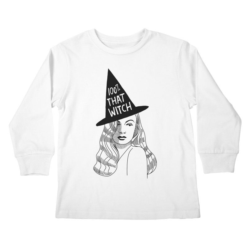 100% that witch Kids Longsleeve T-Shirt by Kate Gabrielle's Threadless Shop