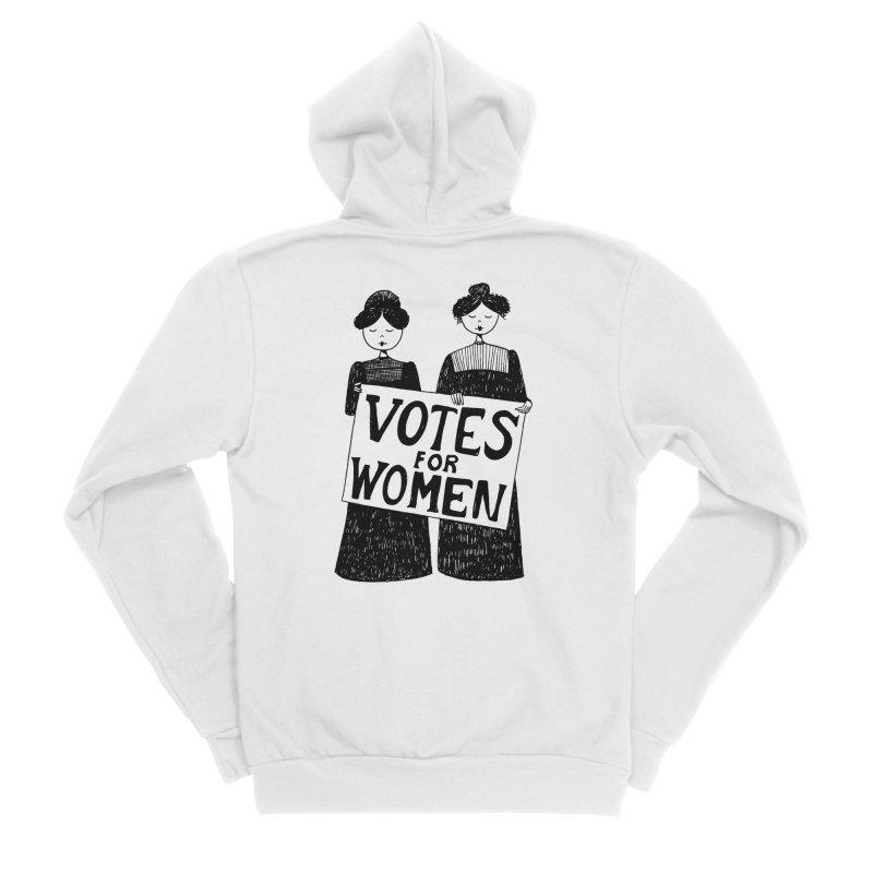 Votes for Women Men's Sponge Fleece Zip-Up Hoody by Kate Gabrielle's Threadless Shop