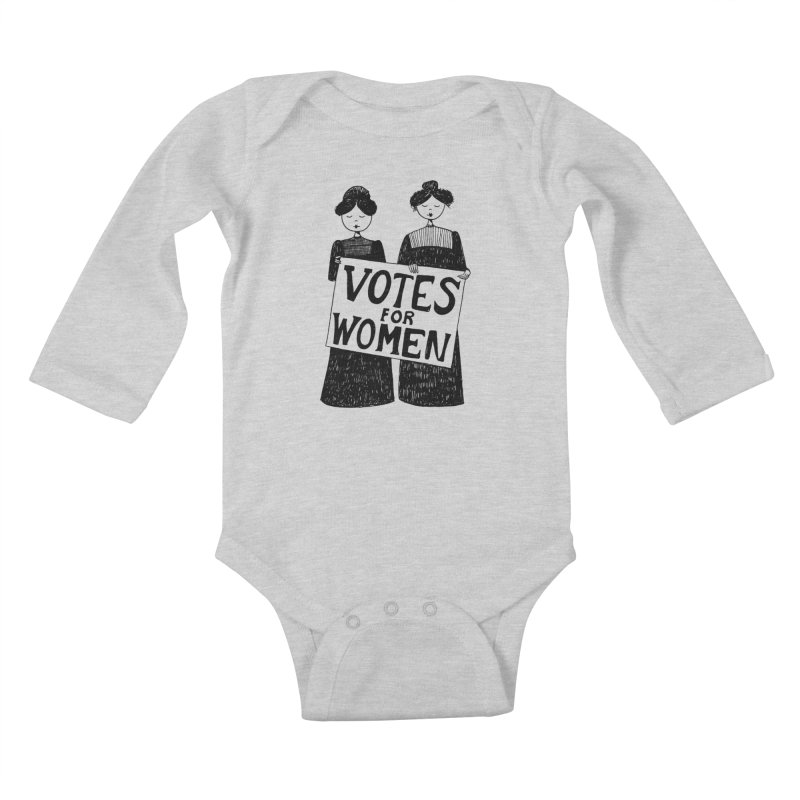 Votes for Women Kids Baby Longsleeve Bodysuit by Kate Gabrielle's Threadless Shop