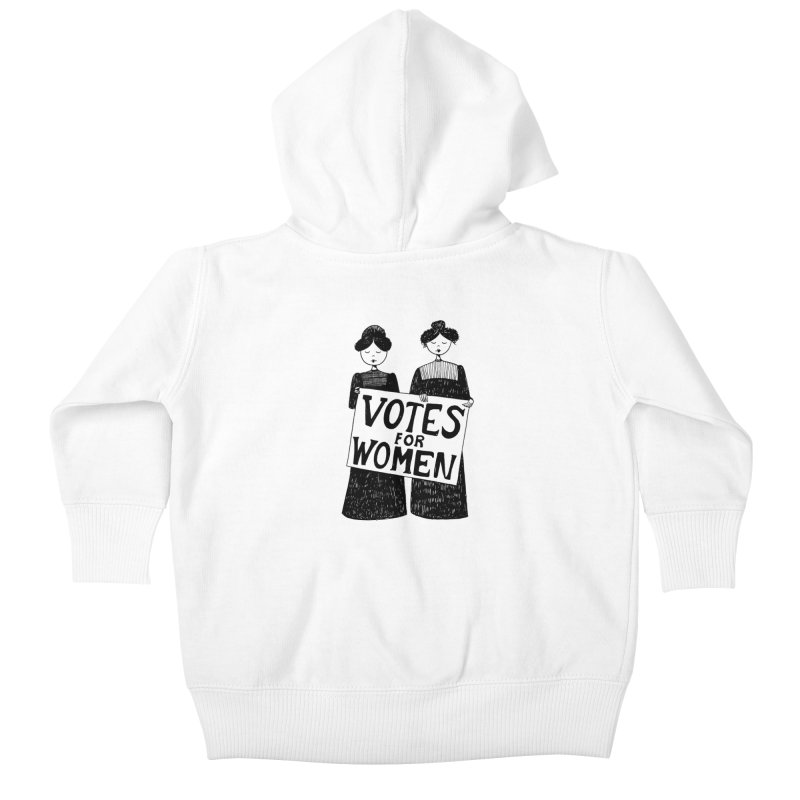 Votes for Women Kids Baby Zip-Up Hoody by Kate Gabrielle's Threadless Shop