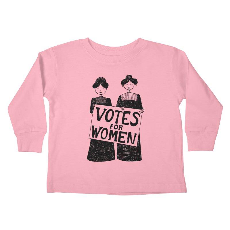 Votes for Women Kids Toddler Longsleeve T-Shirt by Kate Gabrielle's Threadless Shop