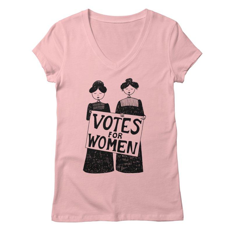 Votes for Women Women's Regular V-Neck by Kate Gabrielle's Threadless Shop