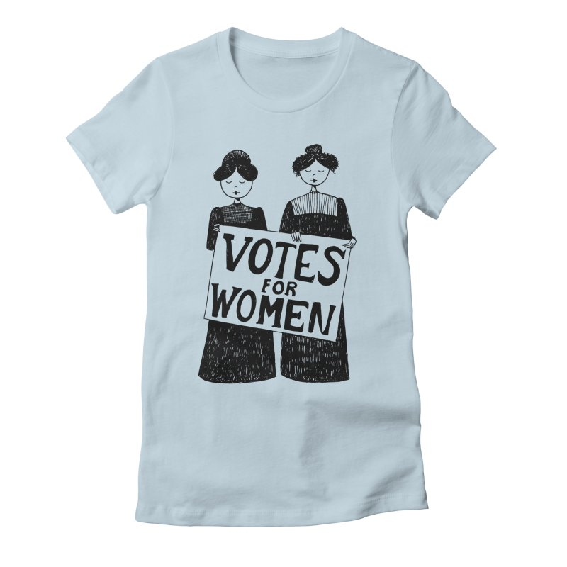 Votes for Women Women's Fitted T-Shirt by Kate Gabrielle's Threadless Shop