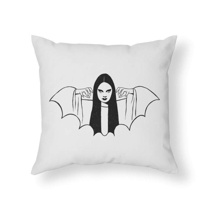 Luna Home Throw Pillow by Kate Gabrielle's Threadless Shop