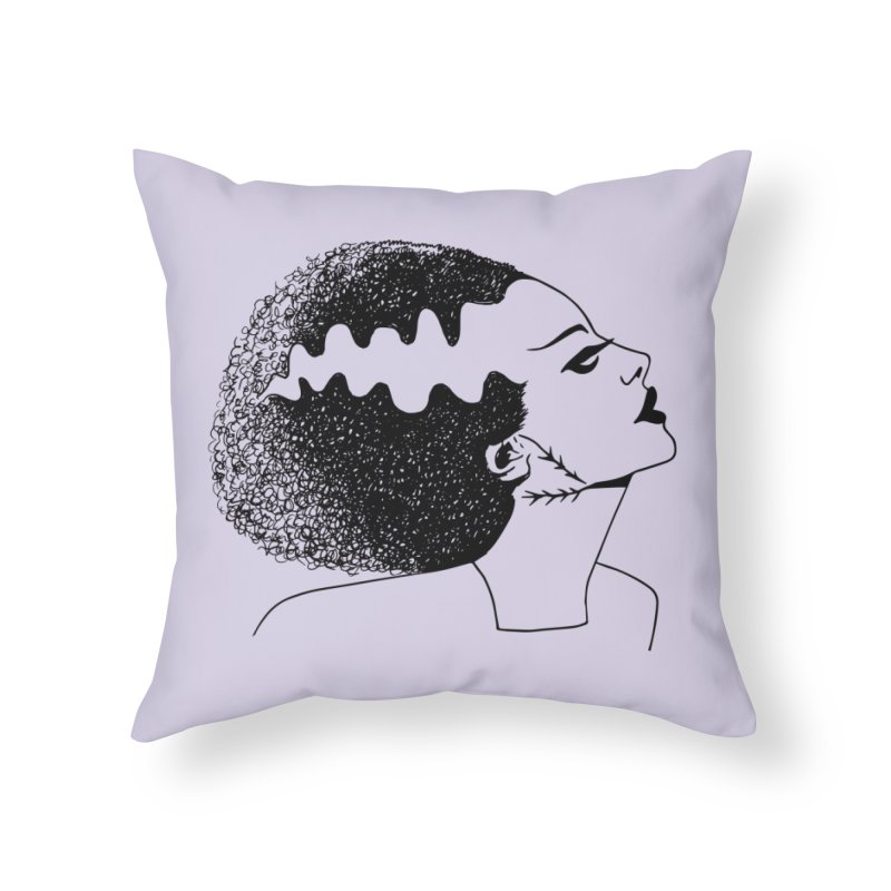 Bride of Frankenstein Home Throw Pillow by Kate Gabrielle's Threadless Shop