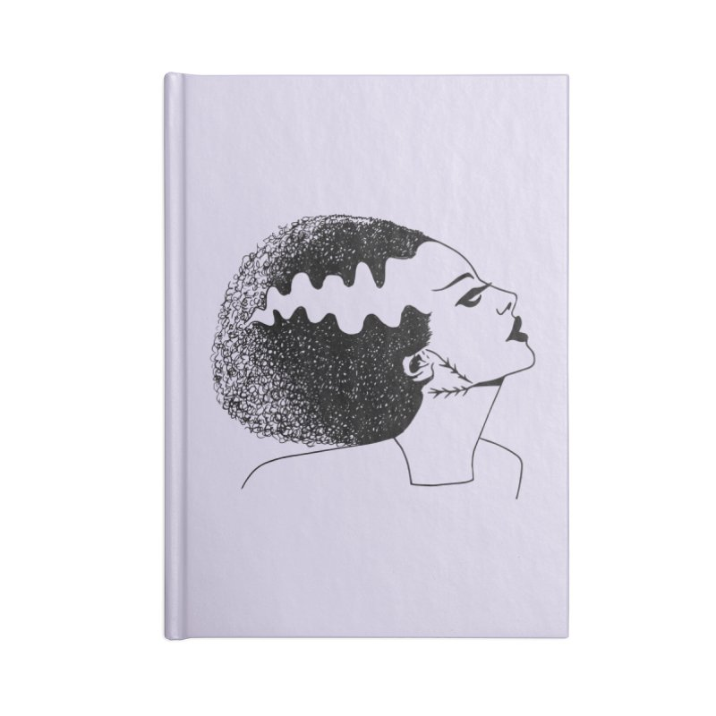 Bride of Frankenstein Accessories Lined Journal Notebook by Kate Gabrielle's Threadless Shop
