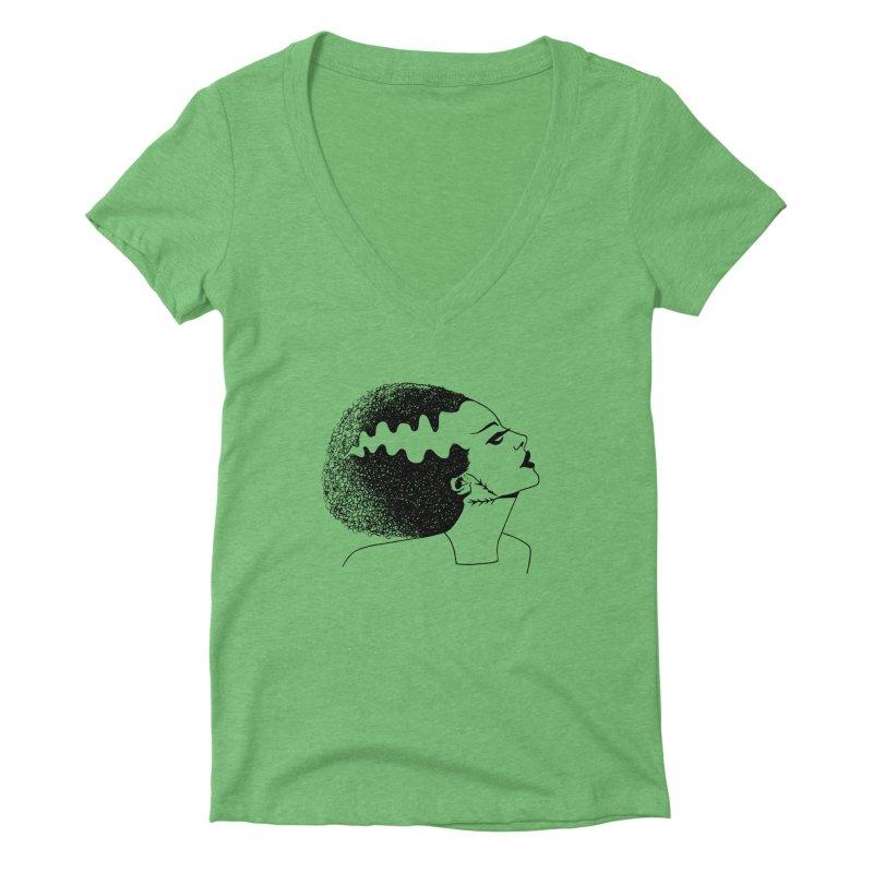 Bride of Frankenstein Women's Deep V-Neck V-Neck by Kate Gabrielle's Threadless Shop