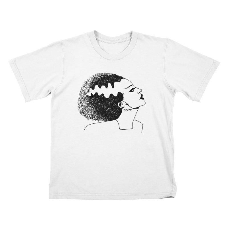 Bride of Frankenstein Kids T-Shirt by Kate Gabrielle's Threadless Shop
